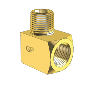 Brass 90 degree Elbow Equal Male NPT to Female NPT