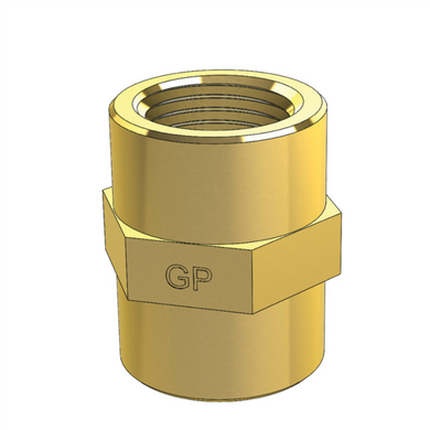 Brass Socket Straight Connector Female Thread Metric and Imperial
