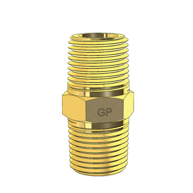 Brass Straight Connector Hex Nipple Imperial NPT