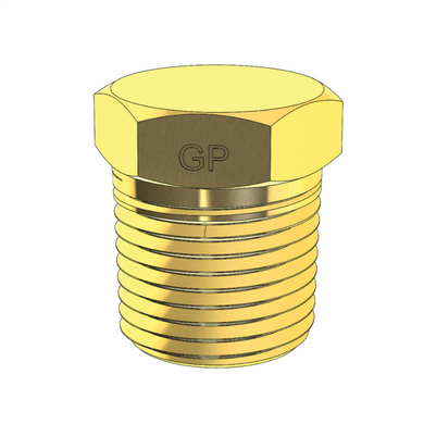 Brass Imperial NPT Hex Plug