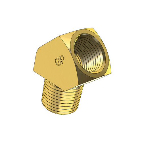 Brass Male to Female Imperial NPT Thread 45 degree Connector