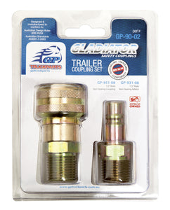 Non-sealing Trailer Suzicoil Coupling Set - Male