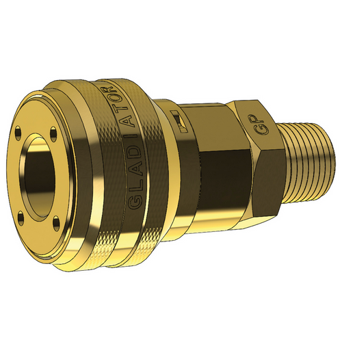 Female Trailer Coupling, Male Thread - Non-sealing