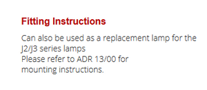 LED Autolamps J3WM fitting guide