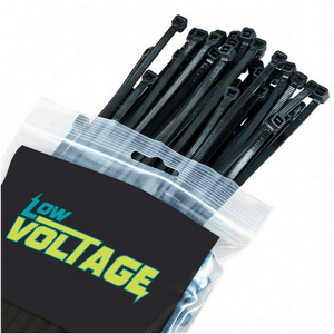 Black Cable Ties 4.6 x 199mm