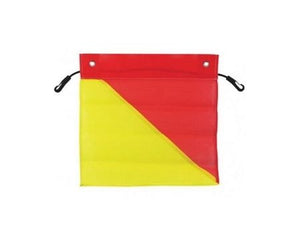 Red & Yellow Oversize Load Flag