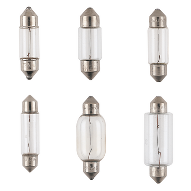 Narva 12V Festoon Globes Box of 10 - Various sizes