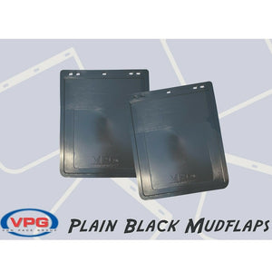 "VPG Plain Black Rubber Mudflap 12"" x 14"""