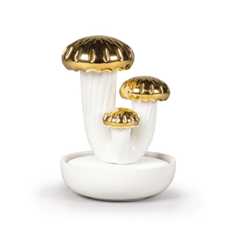 Lladro Home Accessories Default Boletus 3 Diffuser. Gold. Gardens of Valencia Scent