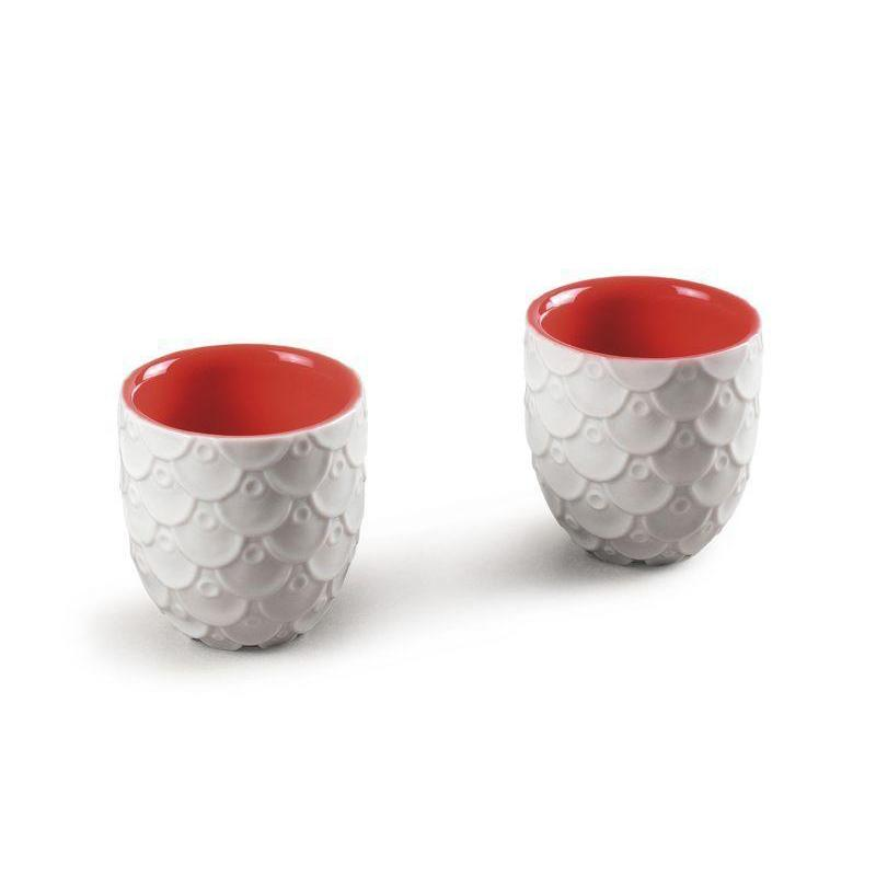 Lladro Home Accessories Default Chinese Dragon Sake Cup Set 2 Glasses