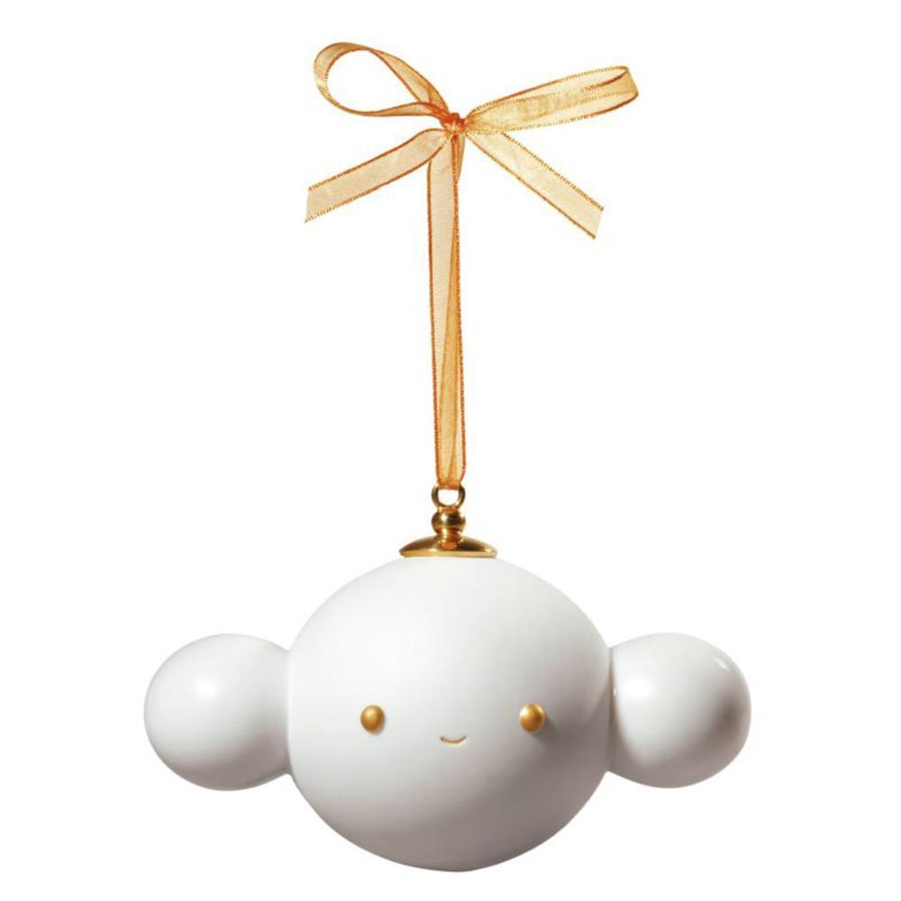 Lladro Home Accessories Default Christmas Ornament 5 by Friends with You. Golden Lustre and White