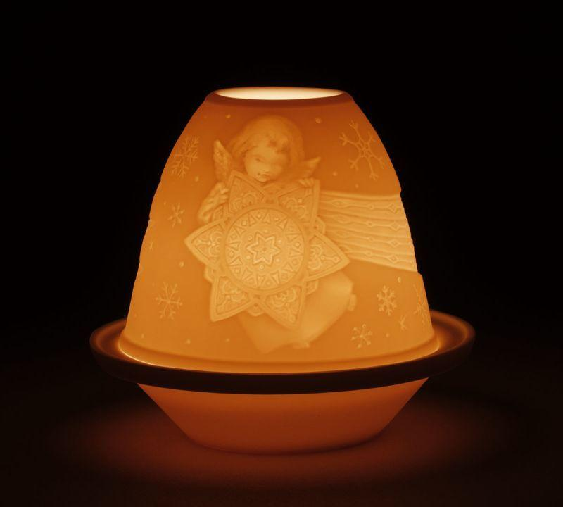 Lladro Home Accessories Default Lithophane Votive Light-Angel With Star