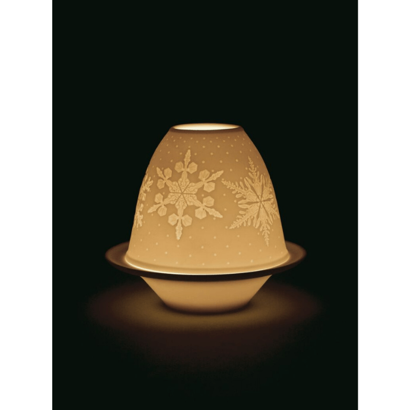 Lladro Home Accessories Default Lithophane Votive Light - Snowflakes (White)