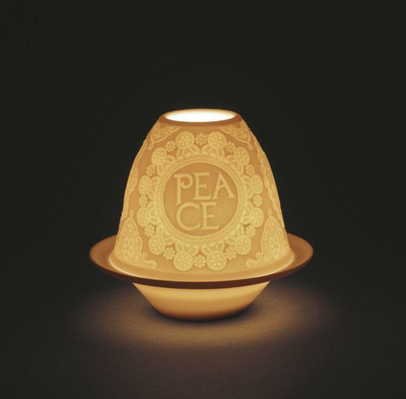 Lladro Home Accessories Default Lithophane Votive Light -Xmas Messages - Peace