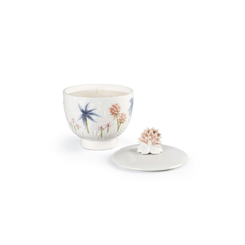 Lladro Home Accessories Default Paradise Candle. Medium. Gardens of Valencia Scent