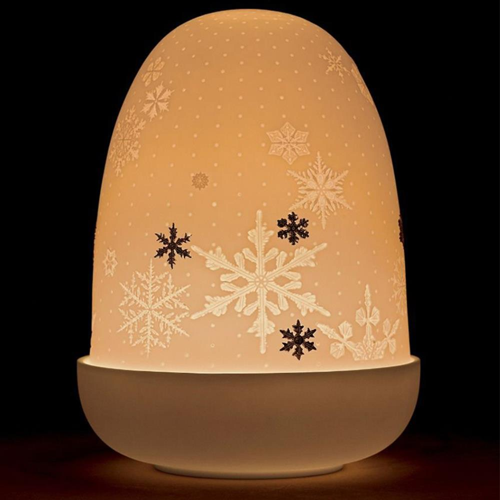 Lladro Home Accessories Default Snowflakes Dome Table Lamp