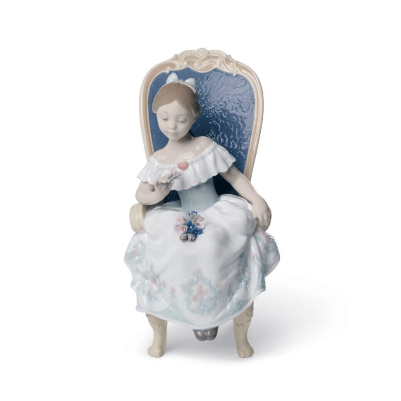 Lladro Inspiration Default A Gift from my Sweetheart Girl Figurine