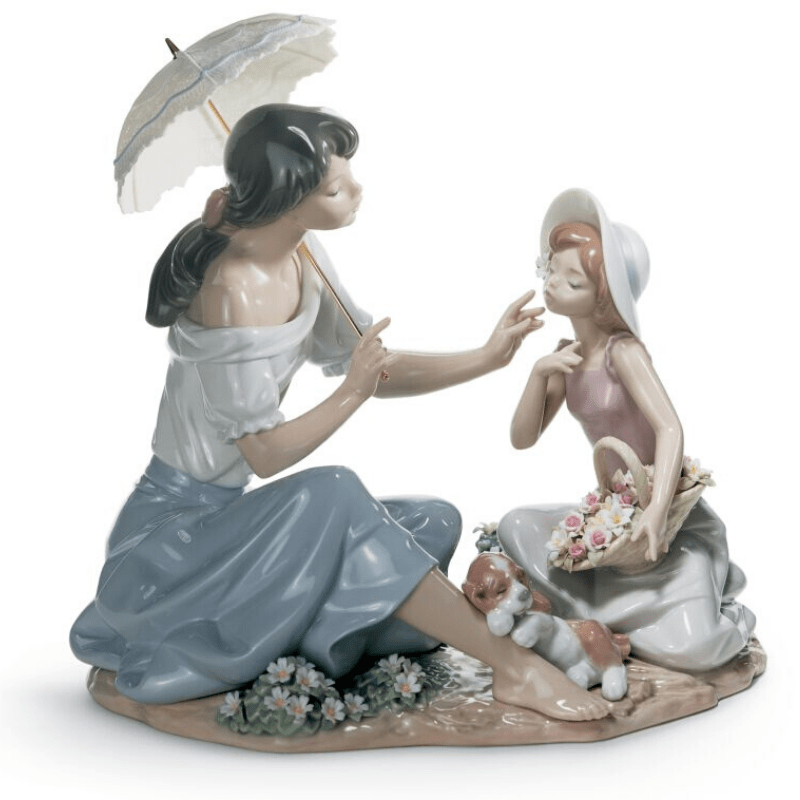 Lladro Inspiration Default As Pretty as a Flower Mother Figurine