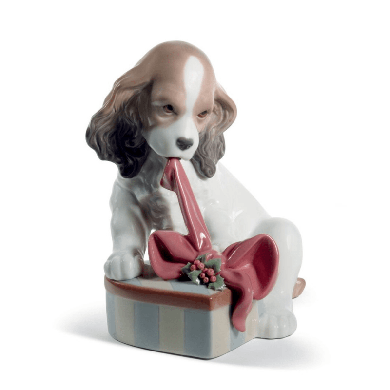 Lladro Inspiration Default Can't Wait Dog Christmas Figurine