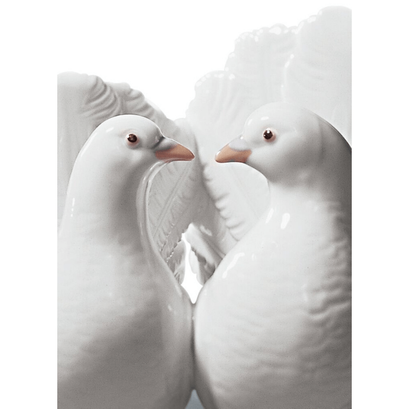 Lladro Inspiration Default Couple of Doves Figurine