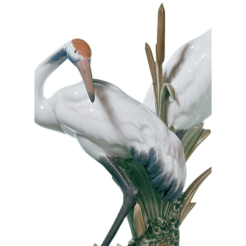 Lladro Inspiration Default Courting Cranes  Sculpture