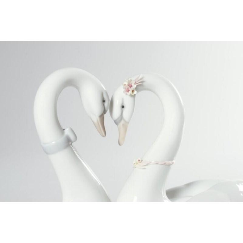Lladro Inspiration Default Endless Love Swans Figurine