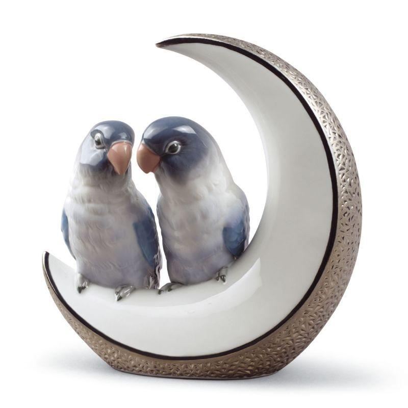 Lladro Inspiration Default Fly Me to The Moon Birds (Silver)