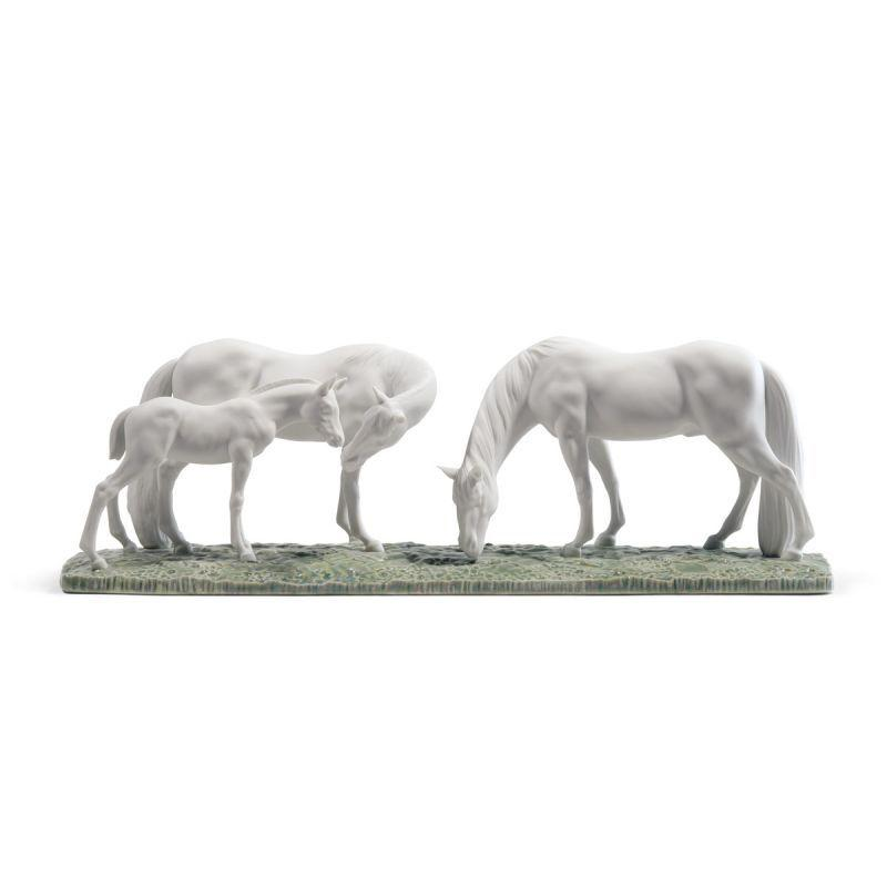 Lladro Inspiration Default Horses in The Meadow