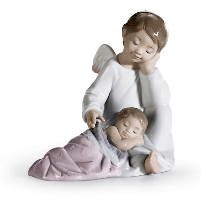 Lladro Inspiration Default My Guardian Angel Pink Figurine