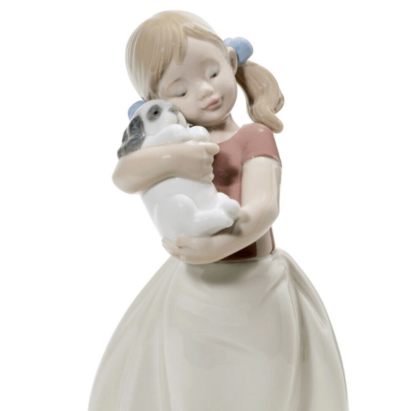 Lladro Inspiration Default My Sweet Little Puppy Girl Figurine