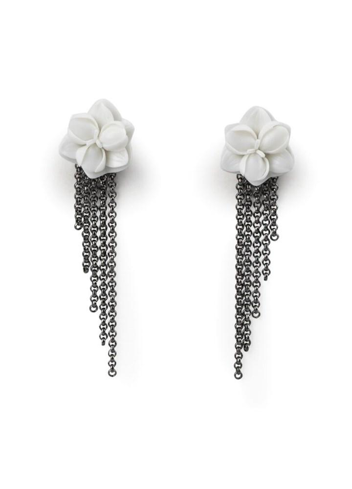 Lladro Inspiration Default Orchid Long Earrings