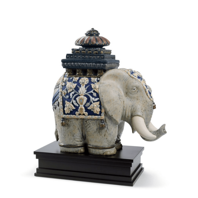 Lladro Inspiration Default Siamese Elephant Sculpture. Limited Edition