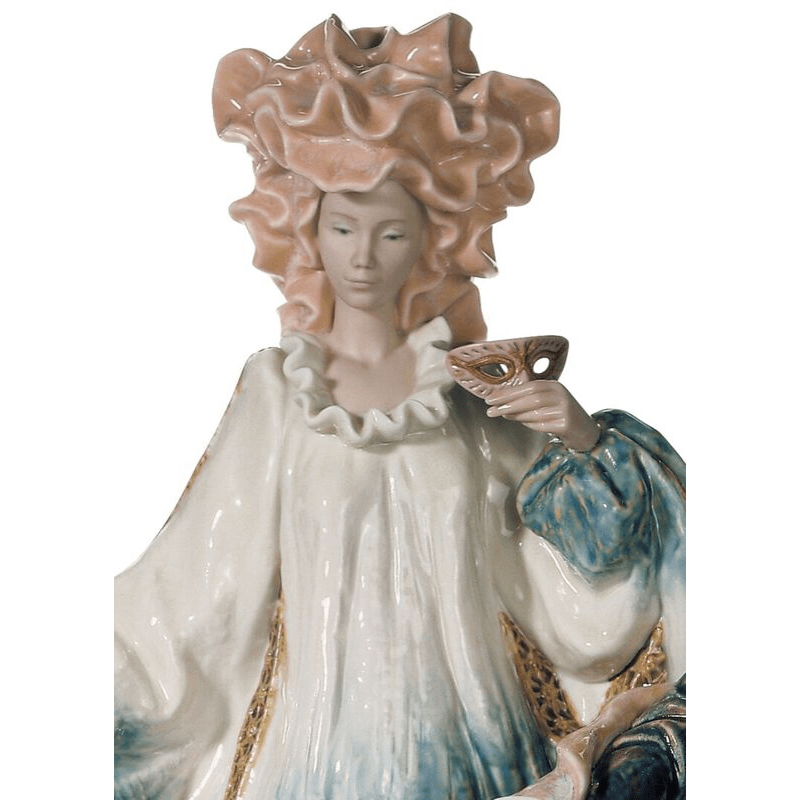 Lladro Inspiration Default Venetian Carnival Couple Sculpture - Limited Edition