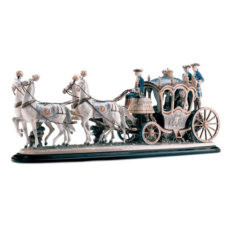 Lladro Inspiration Default XVIIIth Century Coach Sculpture- Limited Edition