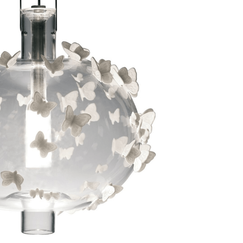 Lladro Interior Design Default Freeze Frame Butterflies Ceiling Lamp (CE)