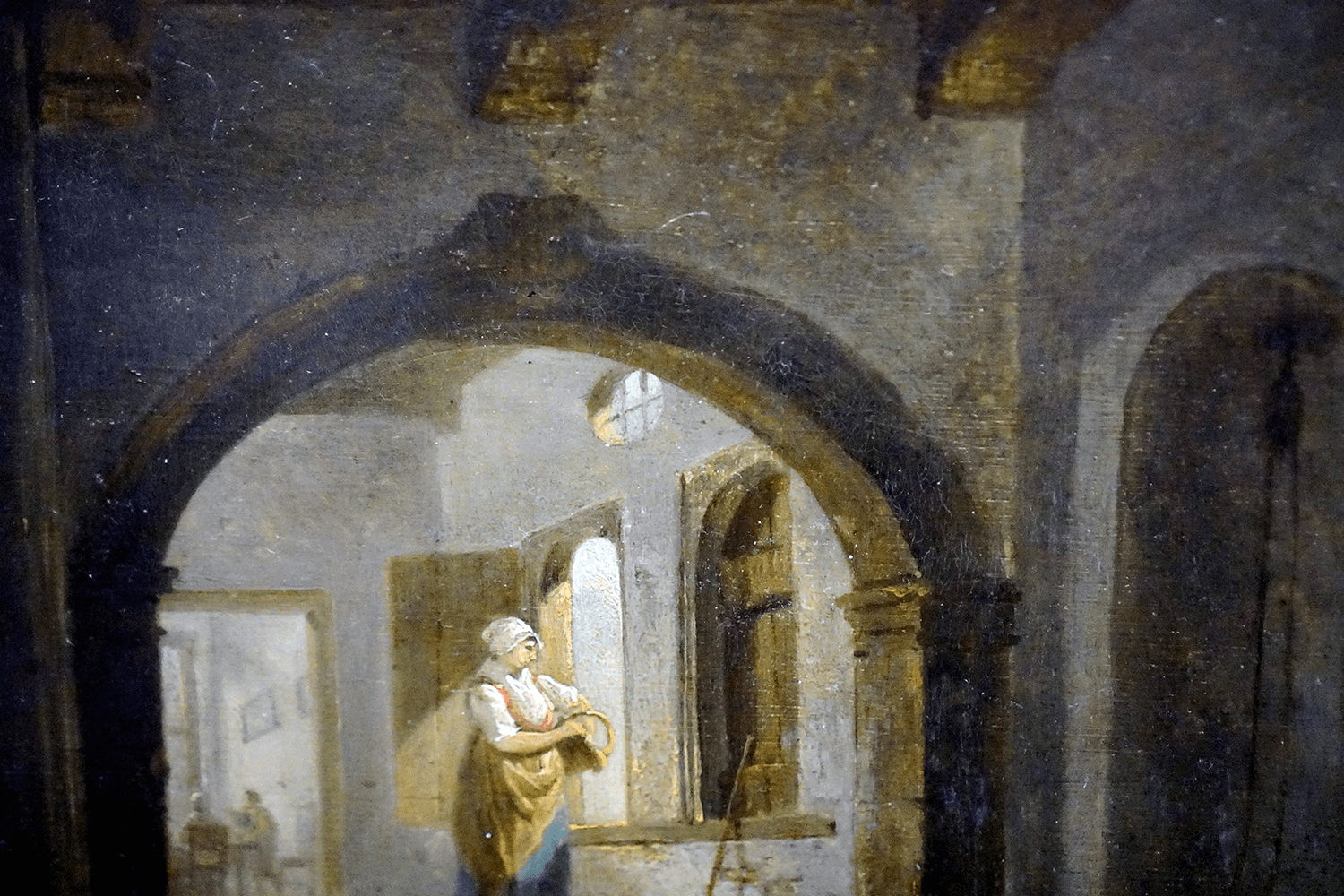 Aert Van Der Neer Painting of an Interior Scene