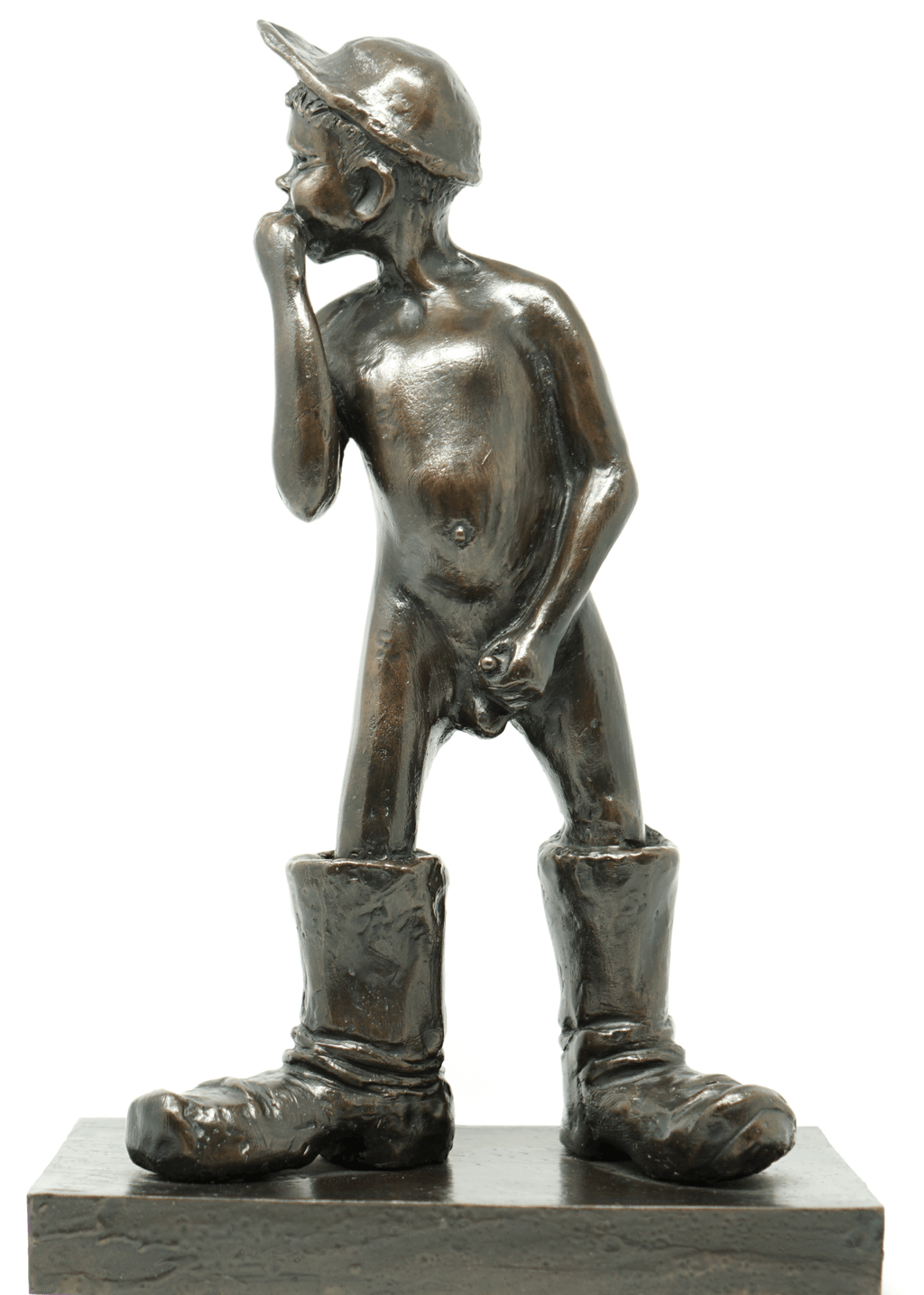 Canadian Bronze Sculpture by Alice Winant 1928-1989 Young Boy