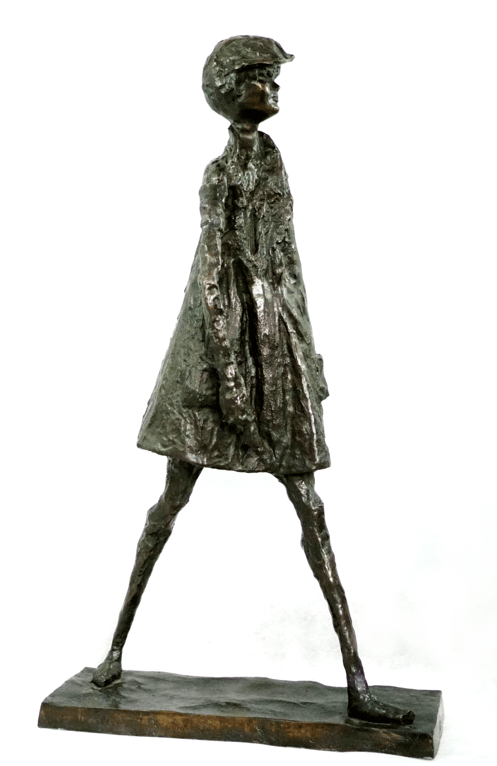 Alice Winant Boy Walking Bronze Sculpture