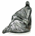 Canadian Bronze Sculpture by Alice Winant 1928-1989 Seated Woman