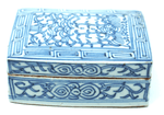 Antique blue and white scholar box