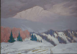 Archibald Browne Winter Scene Painting