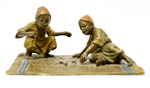 Austrian Orientalist Bronze Sculpture of Children Playing Dice