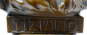 Antique bronze sculpture of Tiziano