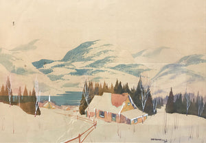Canadian Norwell Graham Noble Winter Scene