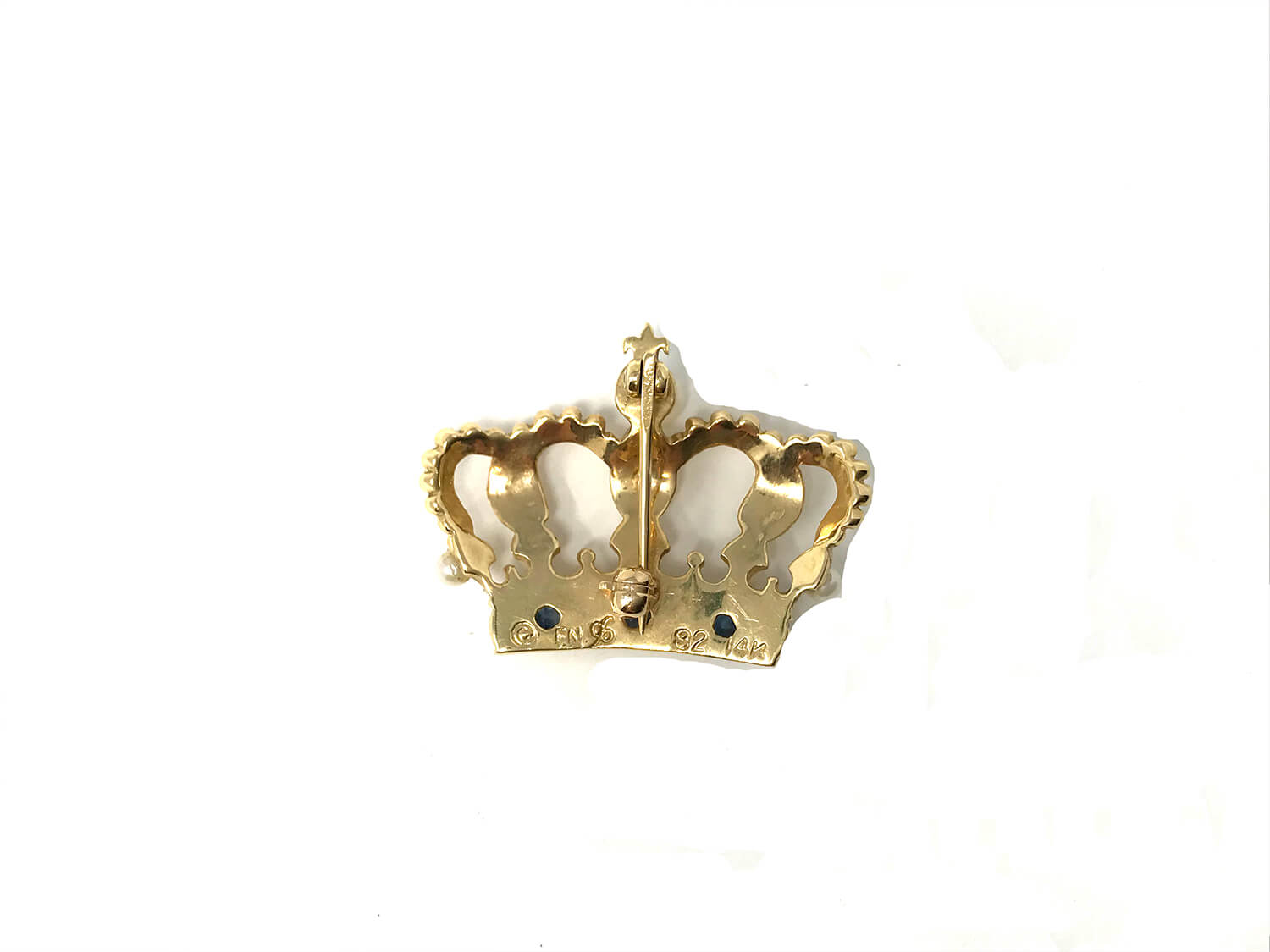 House of Igor Carl Faberge 14k Crown Brooch
