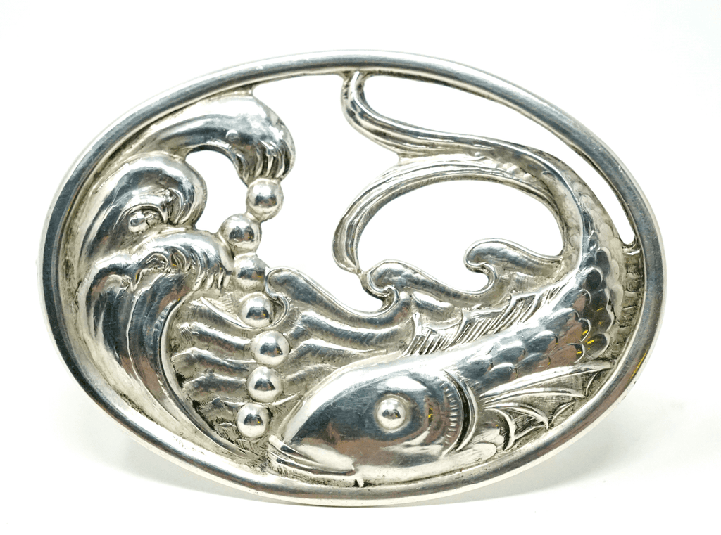 Carl Poul Petersen fish design brooch