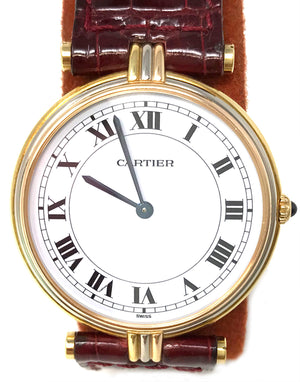 Cartier Tricolor Gold Vendome Trinity Men's Watch