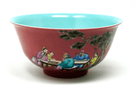 Chinese Copper Red Enameled Bowl