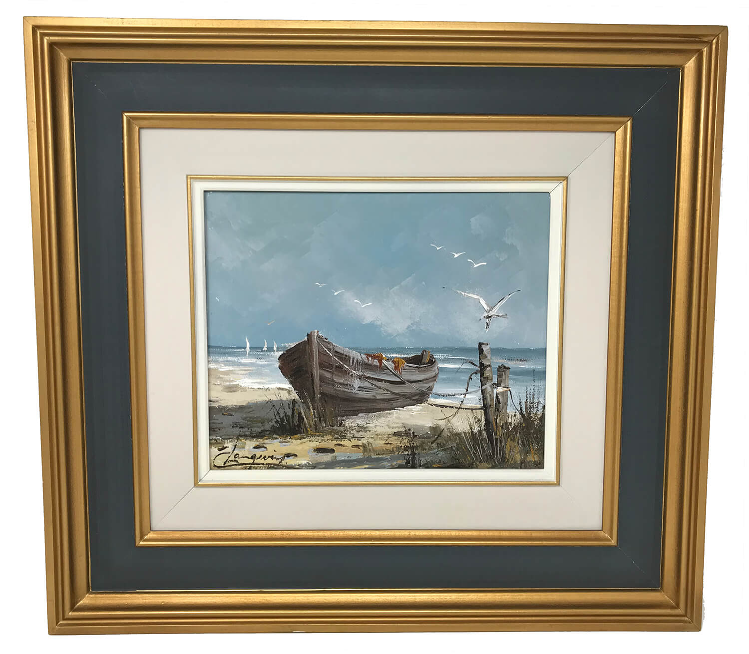 Canadian Claude Langevin Seashore Painting