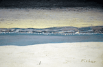 Claude Picher Painting entitled Isle D'Orleans 1974